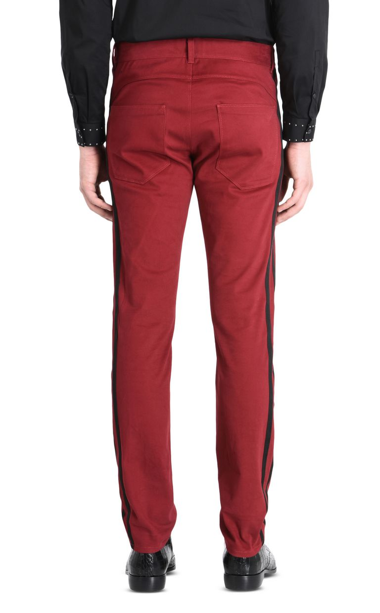 JUST CAVALLI Trousers with contrast stripes Casual pants Man d