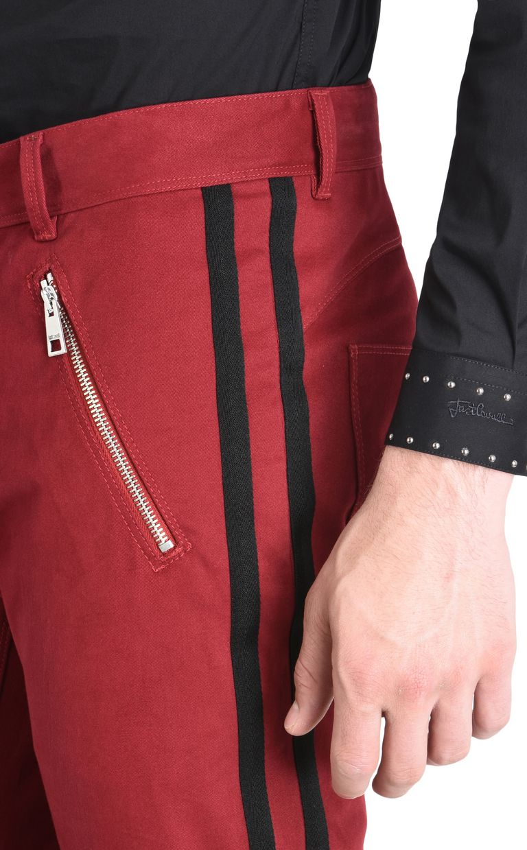 JUST CAVALLI Trousers with contrast stripes Casual pants Man e