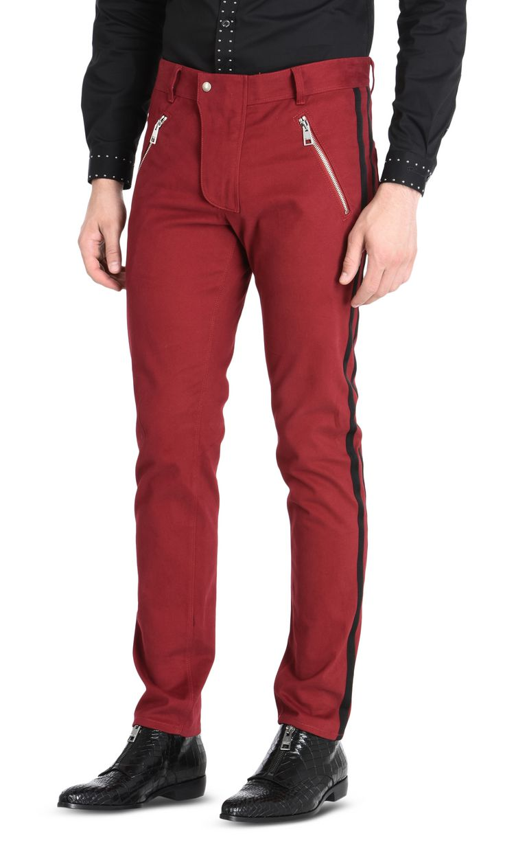 JUST CAVALLI Trousers with contrast stripes Casual pants Man f