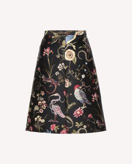 REDValentino Gonna A-line in broccato Flora e Fauna