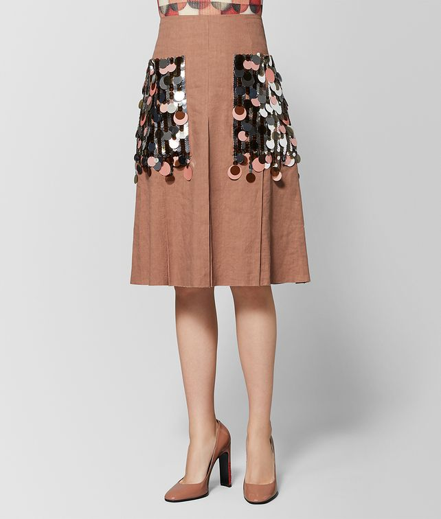 BOTTEGA VENETA DAHLIA LINEN SKIRT Skirt or pant Woman fp