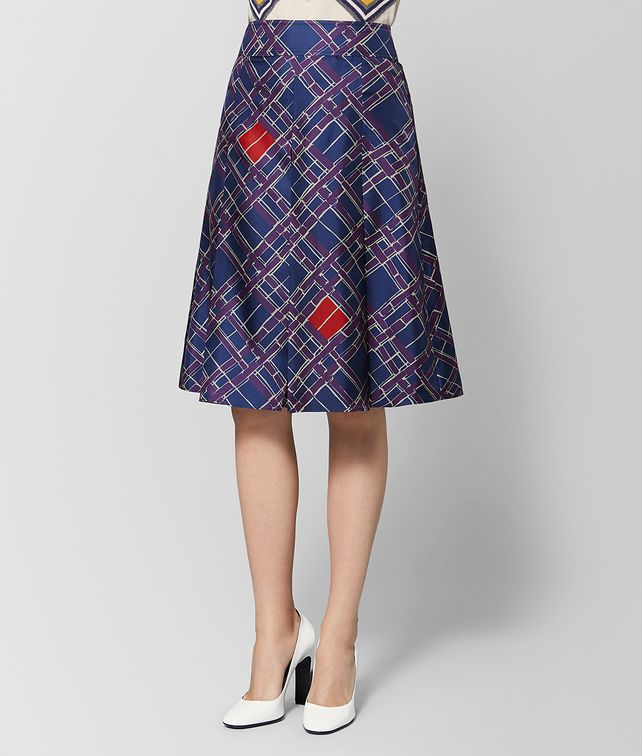 BOTTEGA VENETA MULTICOLOR SILK SKIRT Skirt or pant Woman fp