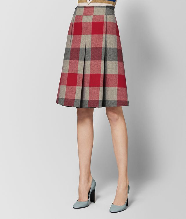 BOTTEGA VENETA MULTICOLOR WOOL SKIRT Skirt or trouser Woman fp