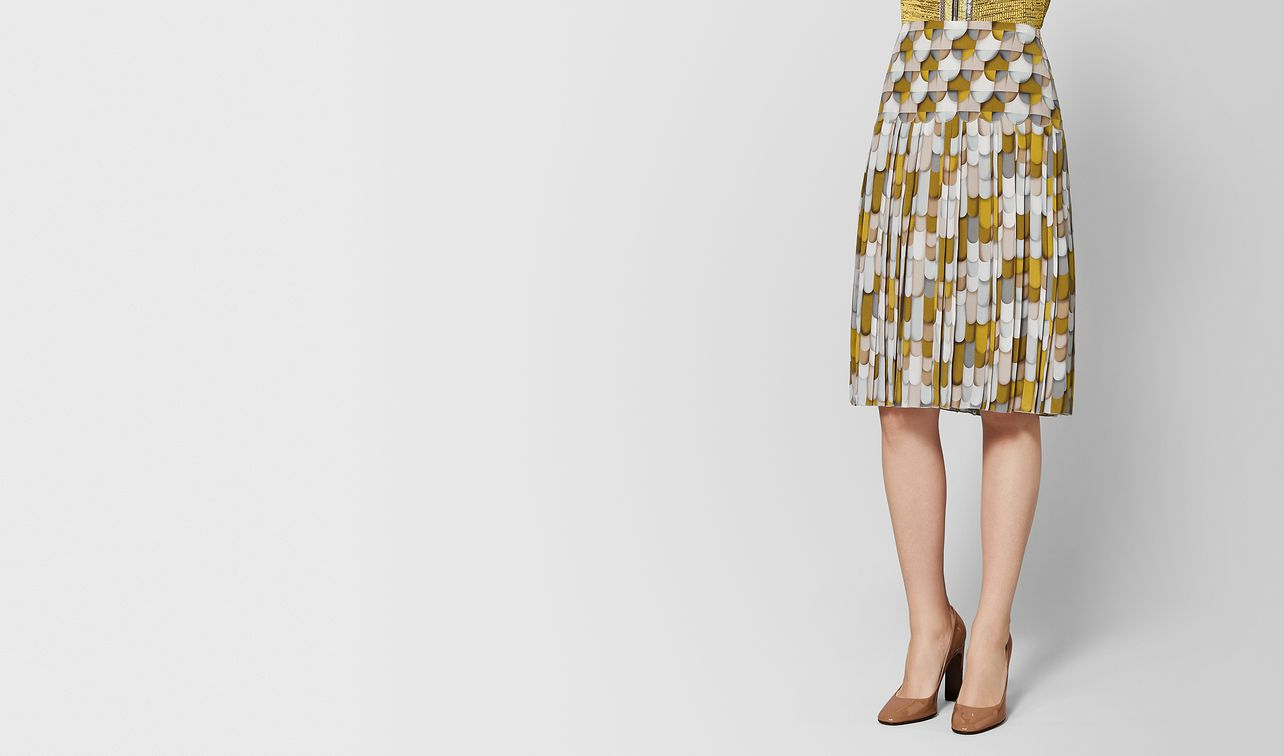 multicolor silk skirt landing