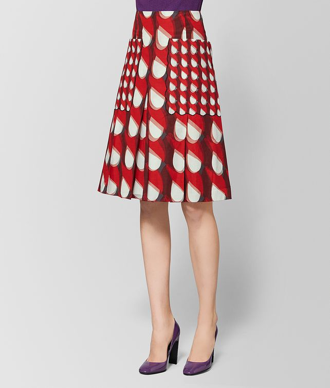 BOTTEGA VENETA MULTICOLOR COTTON SKIRT Skirt [*** pickupInStoreShipping_info ***] fp