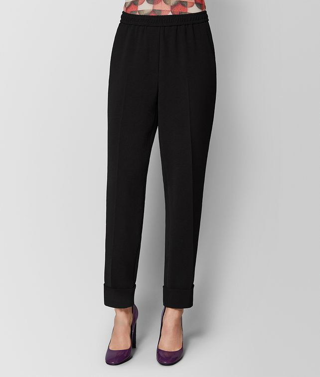 BOTTEGA VENETA NERO POLYESTER PANT Skirt or trouser Woman fp