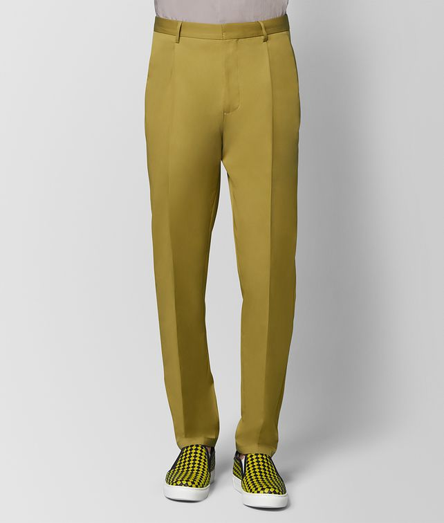 BOTTEGA VENETA CHAMOMILE COTTON PANT Trouser or jeans [*** pickupInStoreShippingNotGuaranteed_info ***] fp