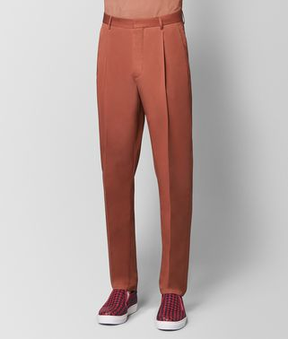 深木槿花红棉质长裤