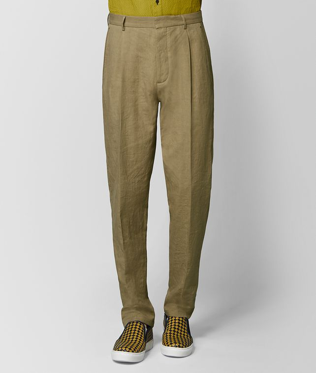 BOTTEGA VENETA LIGHT CHAMOMILE COTTON PANT Trouser or jeans Man fp