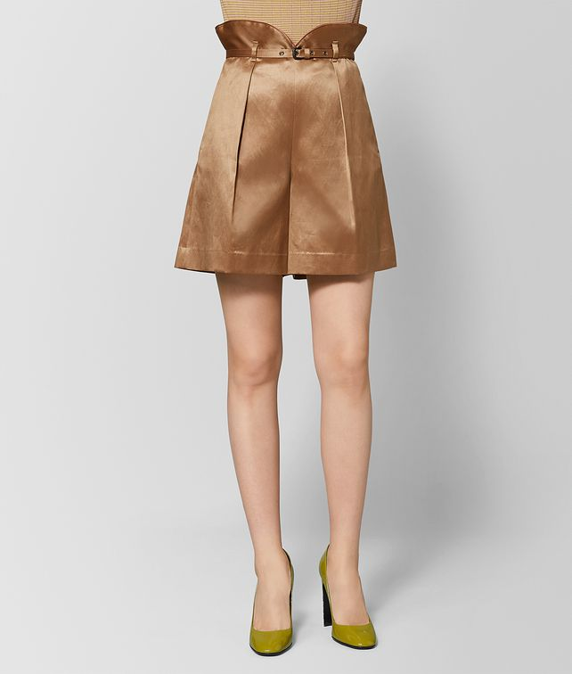 BOTTEGA VENETA CAMEL SATIN PANT Skirt or pant Woman fp