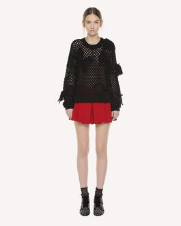 REDValentino Pleated Stretch Frisottine shorts