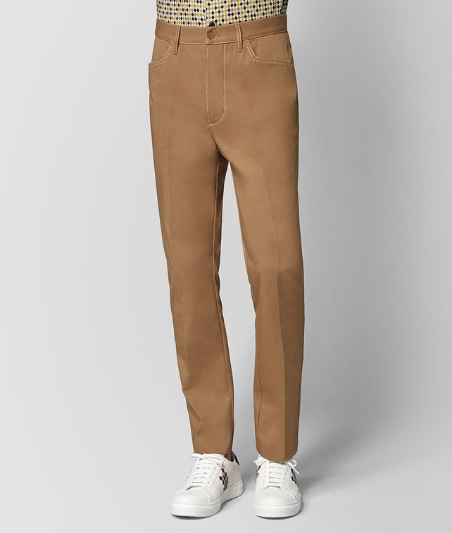 BOTTEGA VENETA CAMEL COTTON PANT Trouser or jeans Man fp