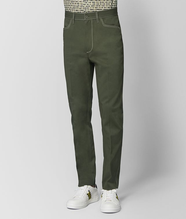 BOTTEGA VENETA FOREST COTTON PANT Trouser or jeans [*** pickupInStoreShippingNotGuaranteed_info ***] fp
