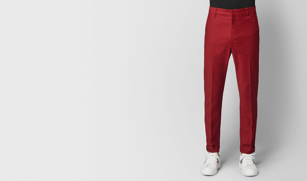 dark china red cotton pant landing