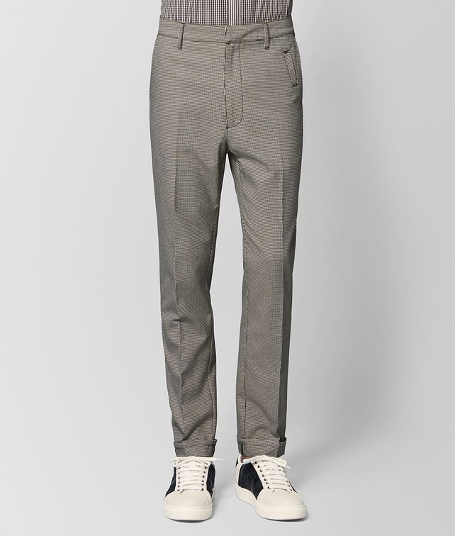 BOTTEGA VENETA MIST/NERO WOOL PANT Trouser or jeans [*** pickupInStoreShippingNotGuaranteed_info ***] fp