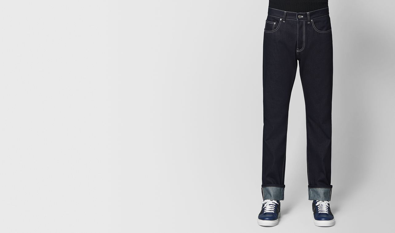denim jeans in dark navy landing