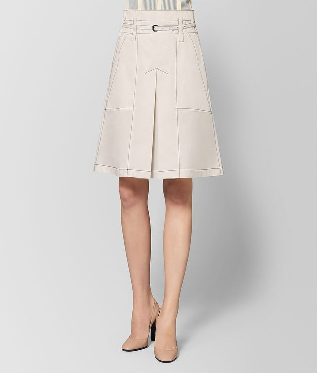 BOTTEGA VENETA MIST COTTON SKIRT Skirt [*** pickupInStoreShipping_info ***] fp