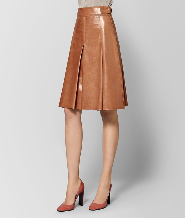BOTTEGA VENETA DAHLIA CALF SKIRT Skirt or trouser Woman fp