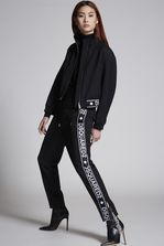 DSQUARED2 Wool Cady Tape Hockney Pants Pants Woman
