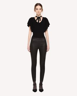 REDValentino Skinny leather trousers