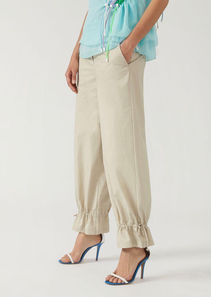 7a1bcc5b9d Trousers in technical cotton gabardine   Woman   Emporio Armani