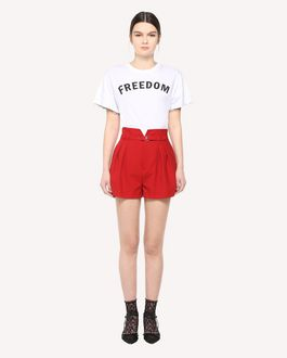 REDValentino High-waist belted Cady Tech shorts