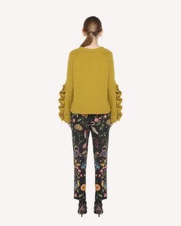 REDValentino Flora and Fauna print fluid silk trousers