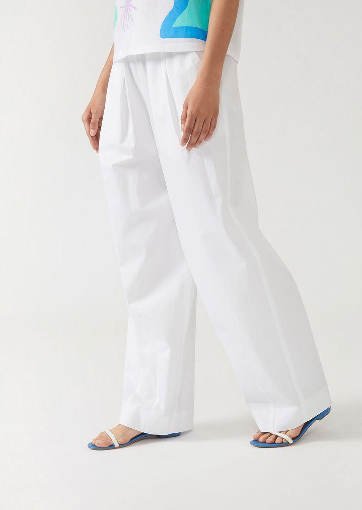 76f1cc7112 Trousers in cotton gabardine   Woman   Emporio Armani