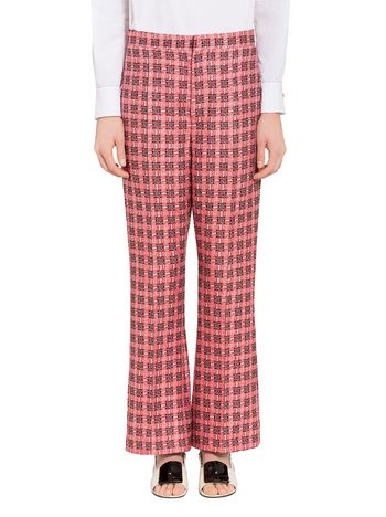 Marni Lightweight micro tweed trousers Woman