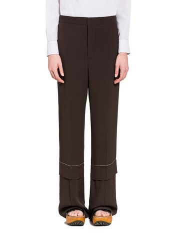Marni Trousers in washed crepe Woman