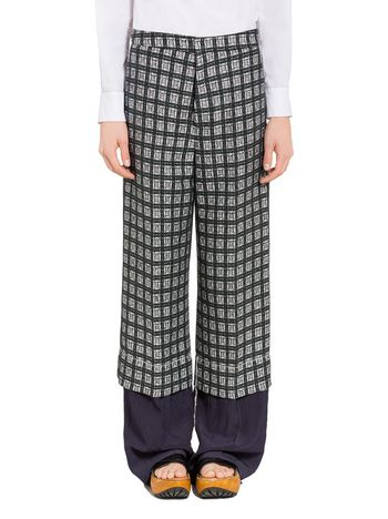 Marni Trousers in lightweight micro tweed Woman