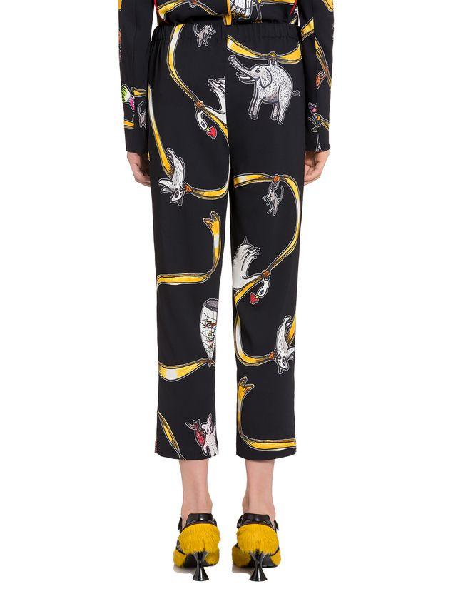 Marni Viscose pants with Frank Navin Cracker Jacks print Woman