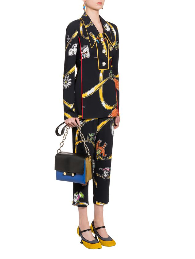 Marni Viscose pants with Frank Navin Cracker Jacks print Woman - 4