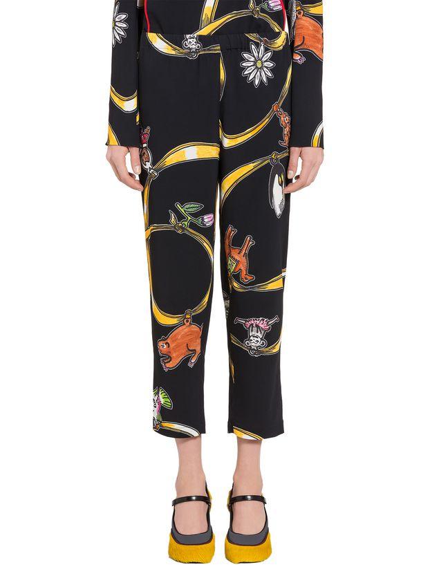 Marni Viscose pants with Frank Navin Cracker Jacks print Woman - 1