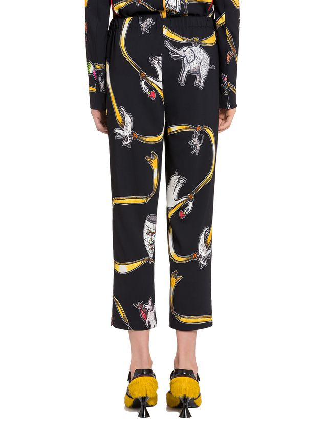 Marni Viscose pants with Frank Navin Cracker Jacks print Woman - 3