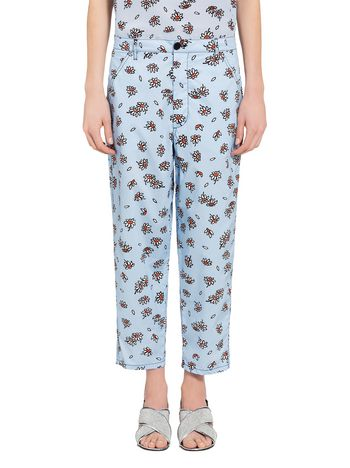 Marni Pants in poplin Petals print by Frank Navin Woman