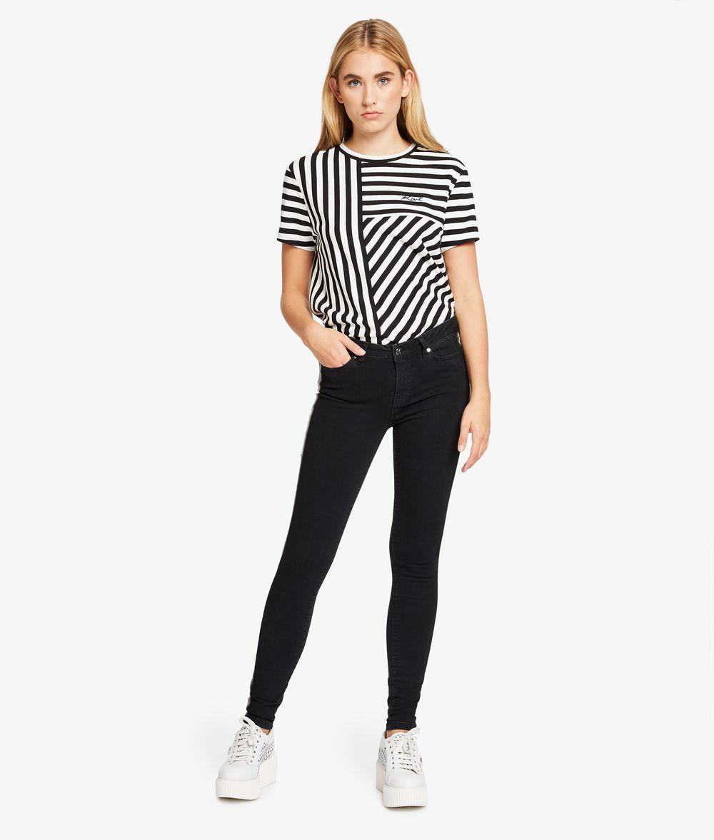 KARL LAGERFELD Skinny Jeans mit Galonstreifen Hose Damen d