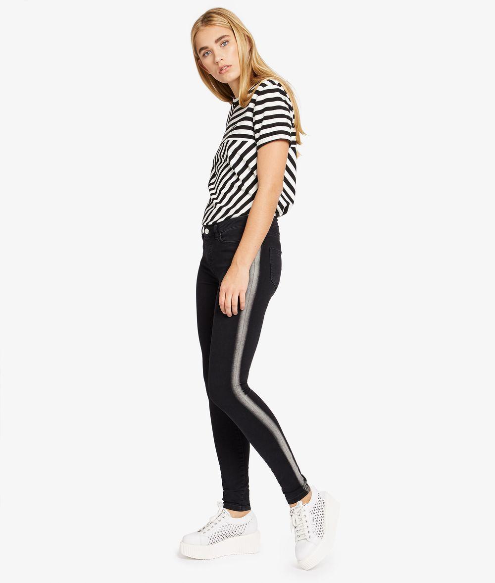 KARL LAGERFELD Skinny Jeans mit Galonstreifen Hose Damen f