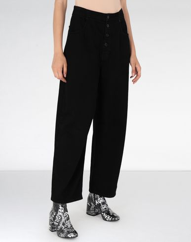 MM6 MAISON MARGIELA Jeans Woman High-waisted cotton trousers f