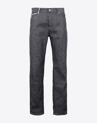 MAISON MARGIELA ジーンズ メンズ Contrasted 5-pocket jeans f