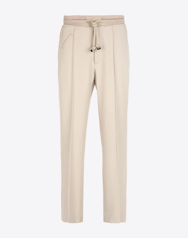 MAISON MARGIELA Trousers Man Wool drawstring trousers f