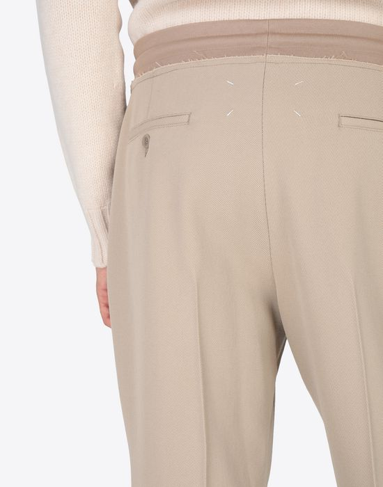 MAISON MARGIELA Wool drawstring trousers Casual pants [*** pickupInStoreShippingNotGuaranteed_info ***] b