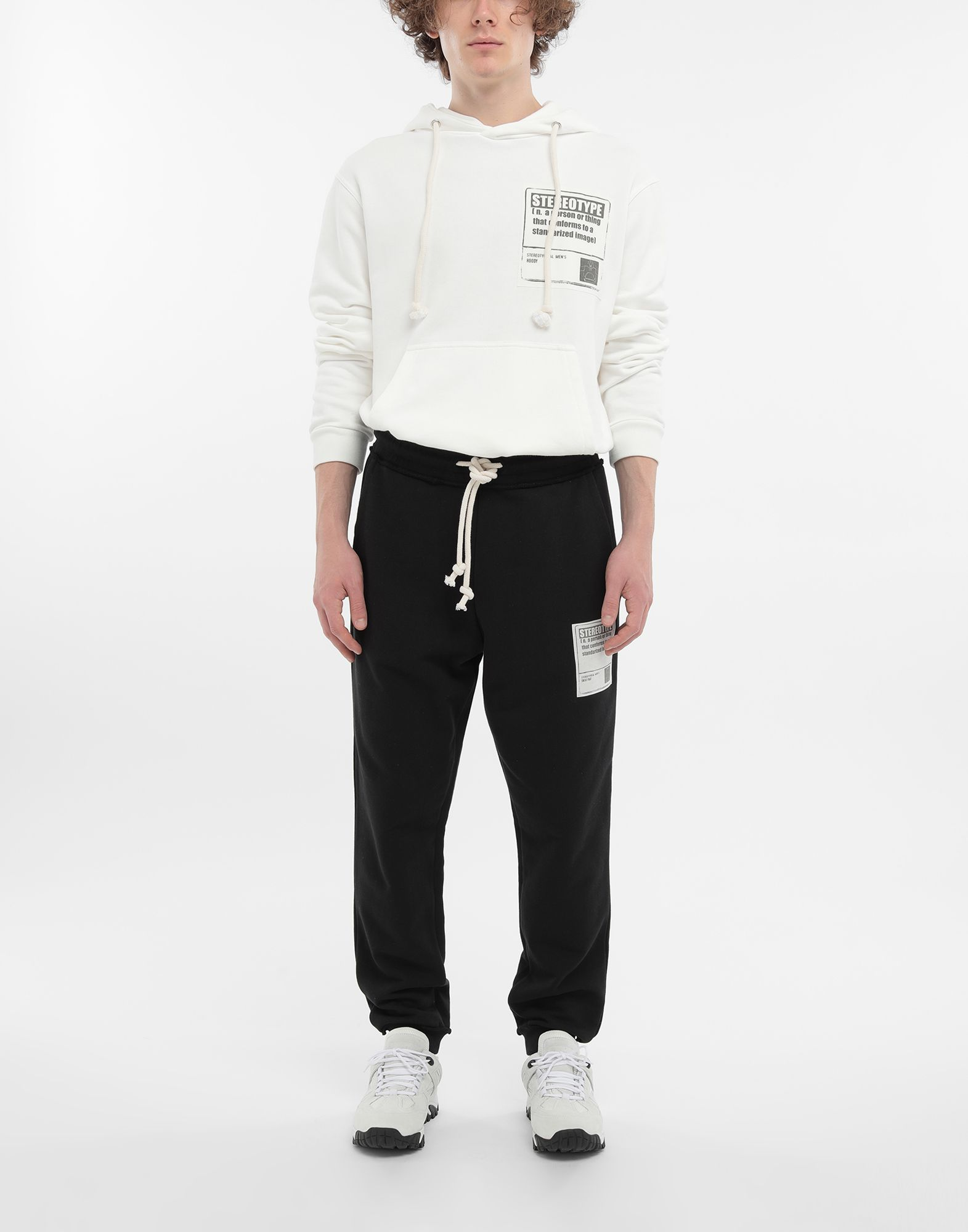 MAISON MARGIELA Cotton drawstring 'Stereotype' sweatpants Casual pants Man d
