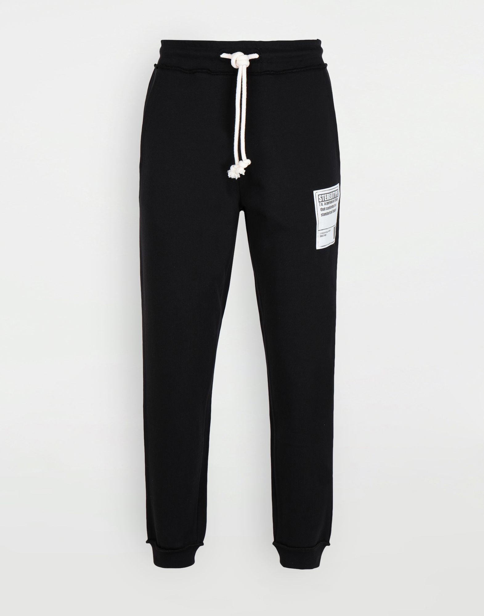 MAISON MARGIELA Cotton drawstring 'Stereotype' sweatpants Casual pants Man f