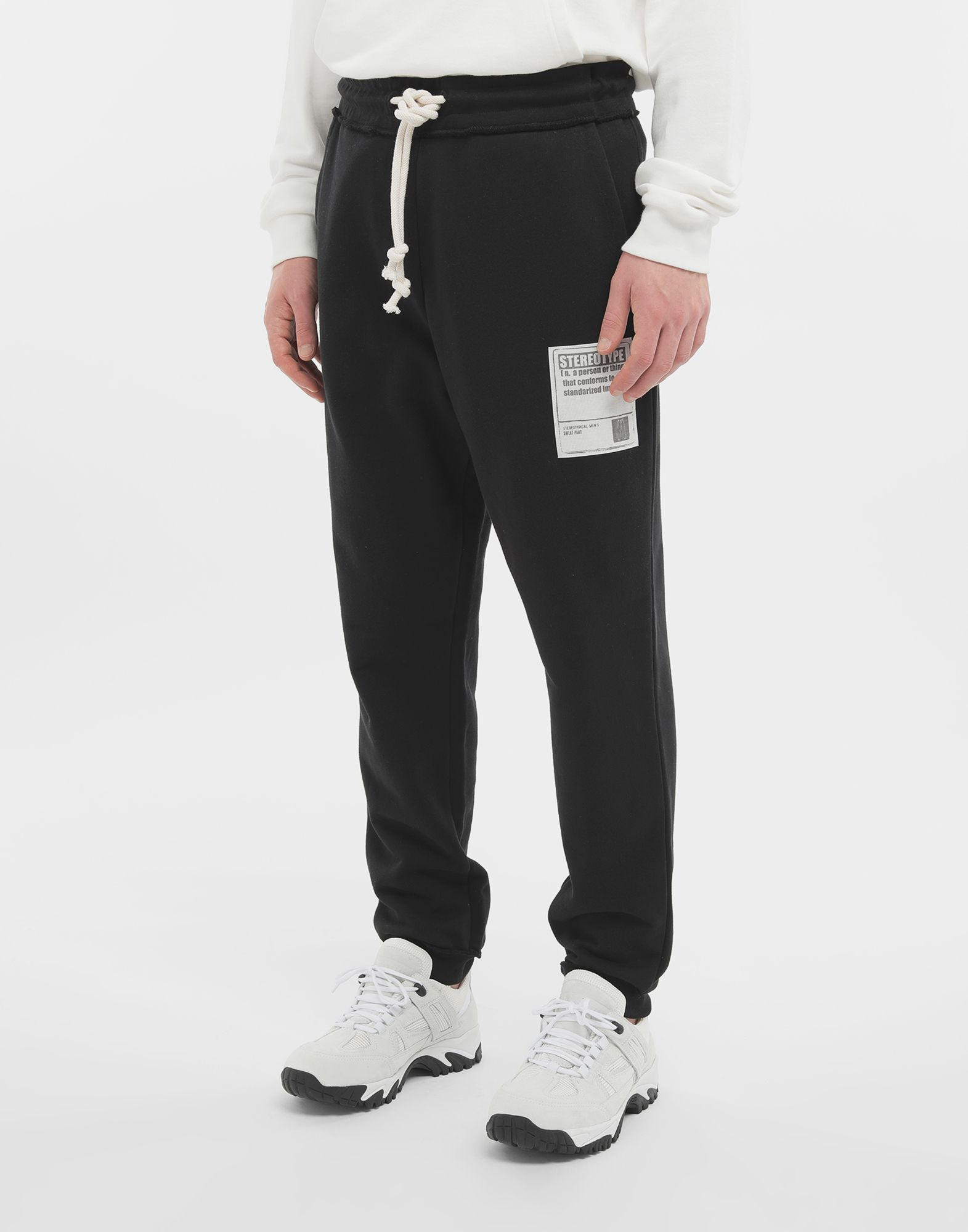 MAISON MARGIELA Cotton drawstring 'Stereotype' sweatpants Casual pants Man r