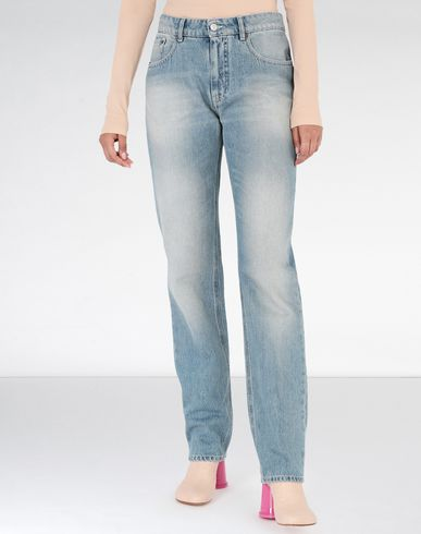 "MM6 MAISON MARGIELA Jeans Woman Light ""garage"" wash flared jeans f"