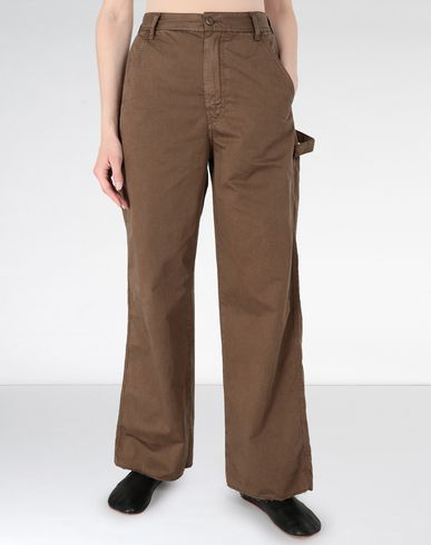 MM6 MAISON MARGIELA Casual pants Woman Flared satin garment dyed trousers f