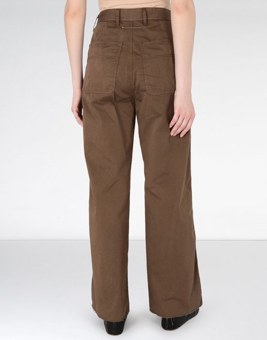 MM6 MAISON MARGIELA Flared satin garment dyed trousers Casual pants [*** pickupInStoreShipping_info ***] d