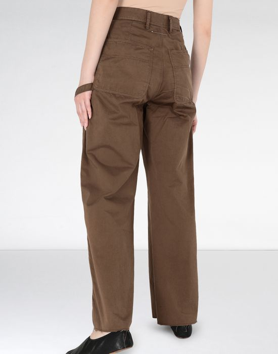 MM6 MAISON MARGIELA Flared satin garment dyed trousers Casual pants [*** pickupInStoreShipping_info ***] e