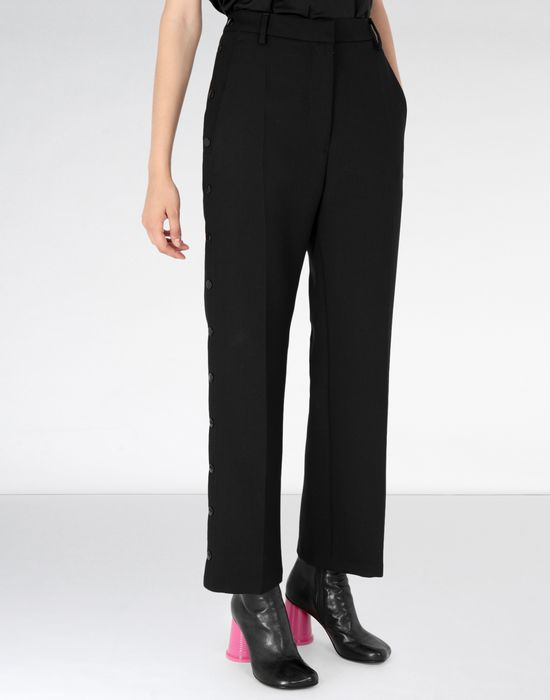 MM6 MAISON MARGIELA Hight-waisted trousers with side buttons Casual pants Woman f